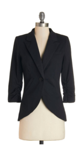 Fine and Sandy Blazer in Noir