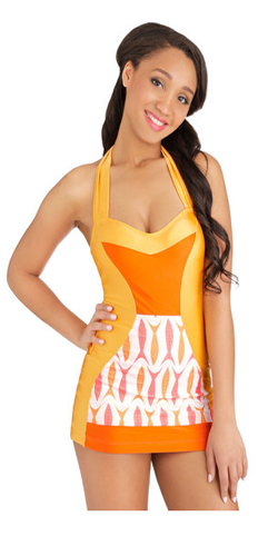 Flamingo to the Shore One-Piece Swimsuit in Fish